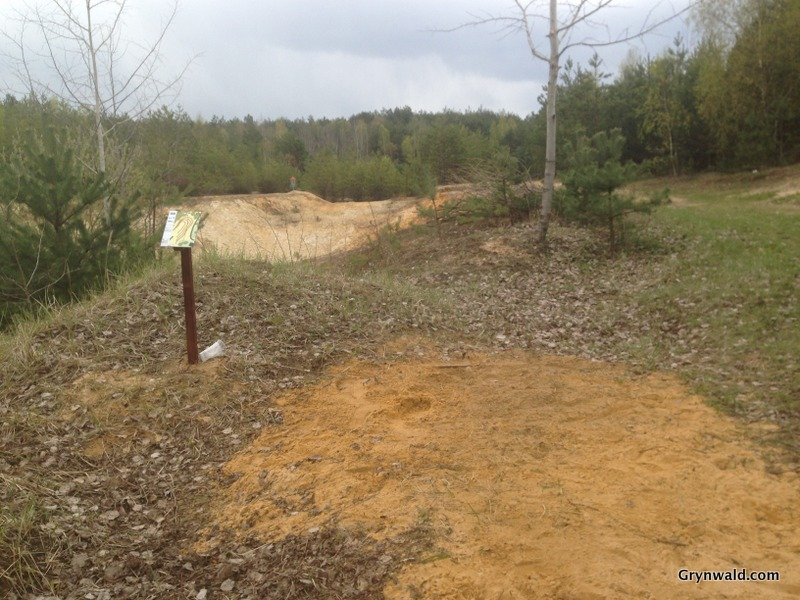 Grynwald Disc Golf Hole nr.8 Tee