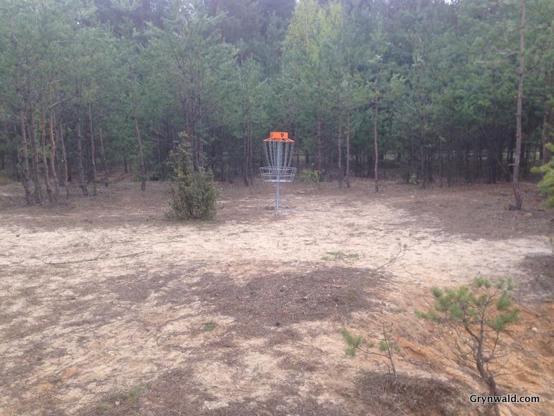 Grynwald Disc Golf Hole nr.9 Target