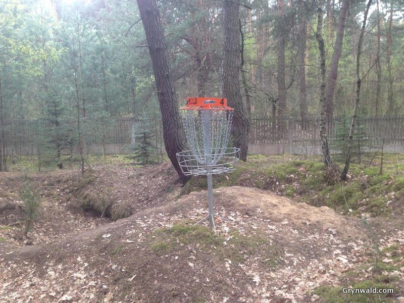 Grynwald Disc Golf Hole nr.4 target